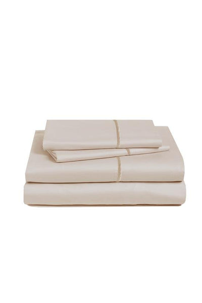 Marquise De Laborde Luxury Cotton Percale Bed Linens - Light Taupe