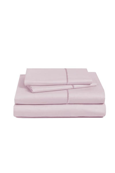 Marquise De Laborde Luxury Cotton Percale Bed Linens- Silver Antique Rose - Marquise de Laborde