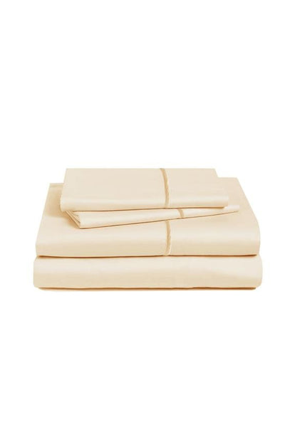 Marquise De Laborde Luxury Cotton Percale Bed Linens - Soft Gold - Marquise de Laborde
