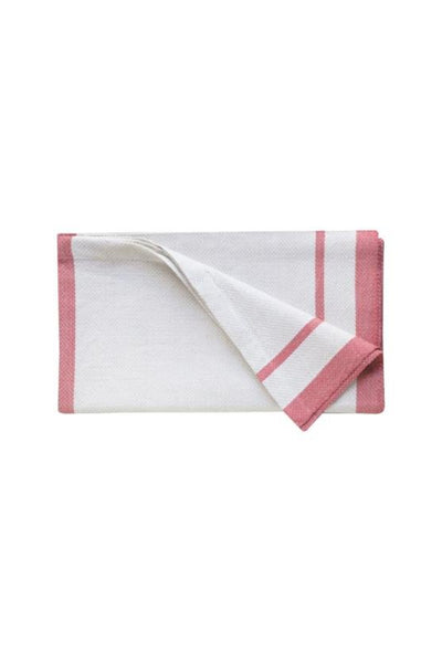 Mungo Hand Towel Natural Flax & Red Stripes - Marquise de Laborde