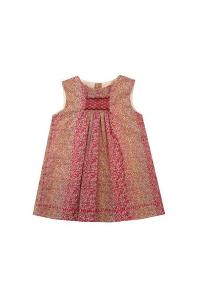 Robe Elodie - Liberty Douglas Stripe Red - Marquise de Laborde