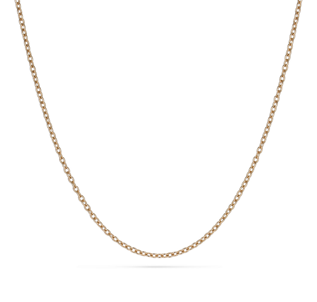 Anchor thin gold chain