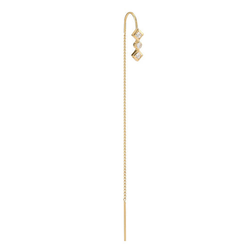 Zalora chain gold plated earring