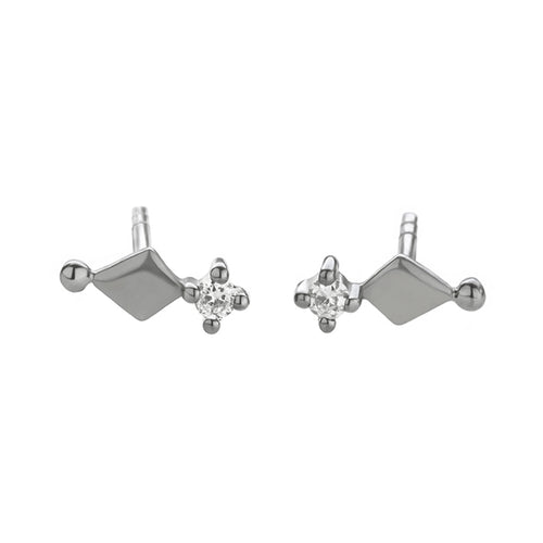 Kitah stud earring with white sapphire