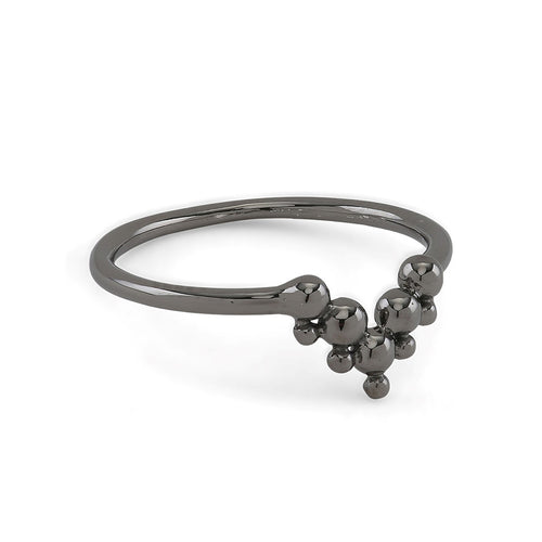 Lady Tiara Black Ring