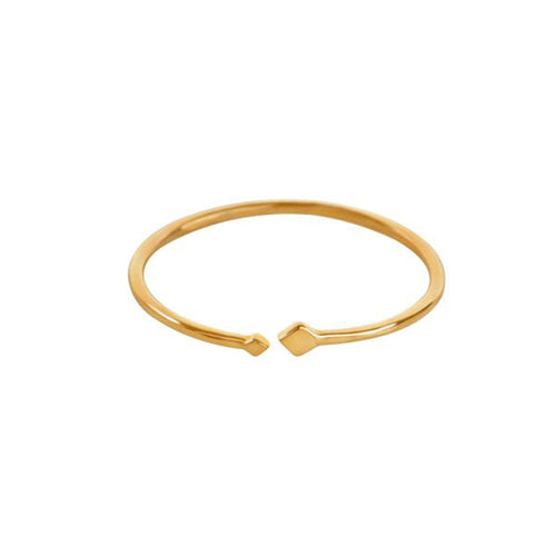 Lady Squares Gold Ring