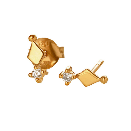 Kitah Gold Earring smykker smykke gold guld diamant øreringe ørering studs earring earrings earing stud earrings stud earring diamonds diamond Gold (14-karat)