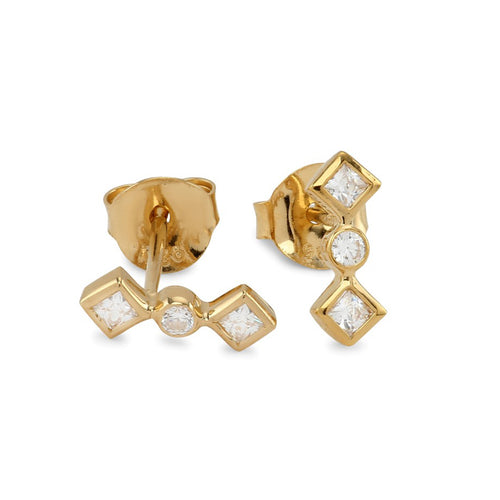 Zara stud gold-plated earring