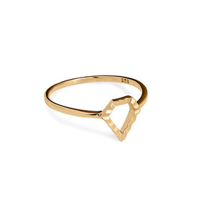 Super Power gold ring (14-karat). Solid gold ring from the Kinz Kanaan Super Love Power collection. Danish Arabic jewellery design. Ornamental minimalistic scandinavian jewellery design.