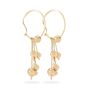 Small Planets gold plated earrings