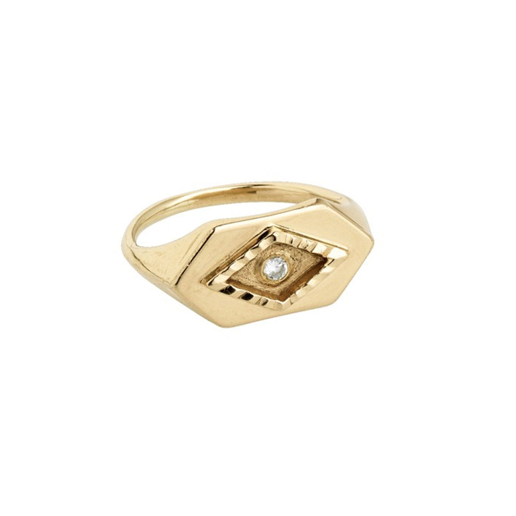 Eye Power Gold Ring (14-karat solid gold). Kinz Kanaan jewellery.