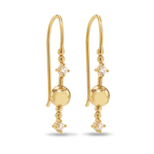 Venus Stars gold plated hook earrings