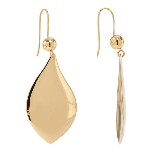 Planet Drop 14-karat Gold Plated 925 silver sterling Earring from the Kinz Kanaan Rhytm collection. Medium big hanging earrings. Can be worn as a single or in pairs.