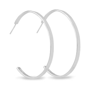 Cosmic 925 sterling silver band hoop earrings to remind us of the inevitable rhythm in the universe. From the Kinz Kanaan Rhytm collection.