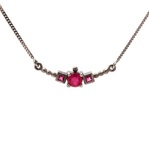 Kililas Black Necklace with ruby