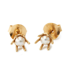 Load image into Gallery viewer, gold guld pearls perler pearl perle stud earring ear  ørering swarovski