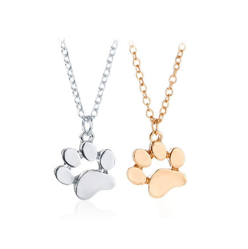 Cat & Dog Paw Necklace