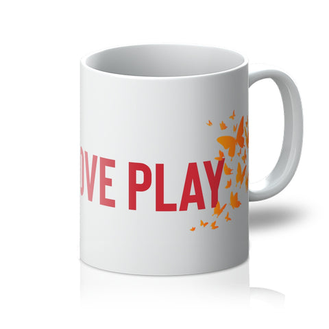 Hope Love Play (butterfly print) - mug