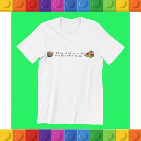 "Relax With Lego ""Adjudication"" - unisex tee"