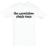 The revolution starts here - women's tee (black print)