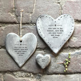 East of India - Rustic Heart Porcelain Coaster 'Live life to the fullest'