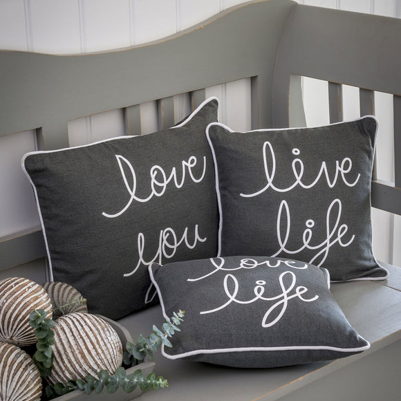 Retreat - Love/Life Slogan Cushions | 18SS108
