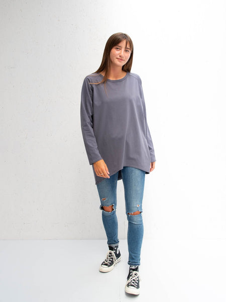 Chalk - Robyn Top | Charcoal
