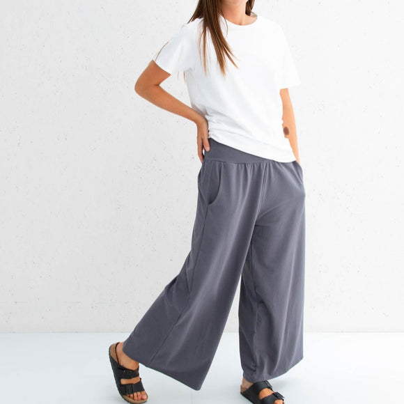 Chalk - Luna Pants | Jersey - Charcoal