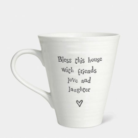 East of india - Mug 'Bless this house with friends love and laughter' 4160