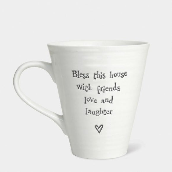 East of india - Mug 'Bless this house with friends love and laughter'