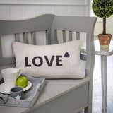 Retreat - Reversible Knit 'LOVE' Oblong Cushion | 20SS33