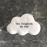 East of India - White Cloud Pebble 'You brighten my day' - 6742