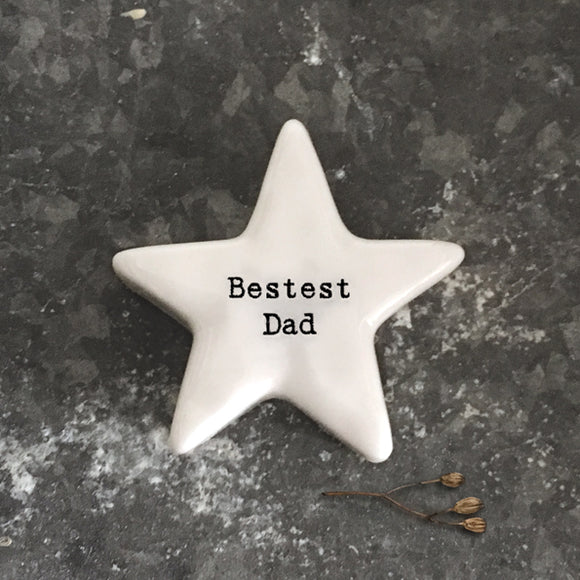 East of India - White Star Pebble 'Bestest Dad' - 6768
