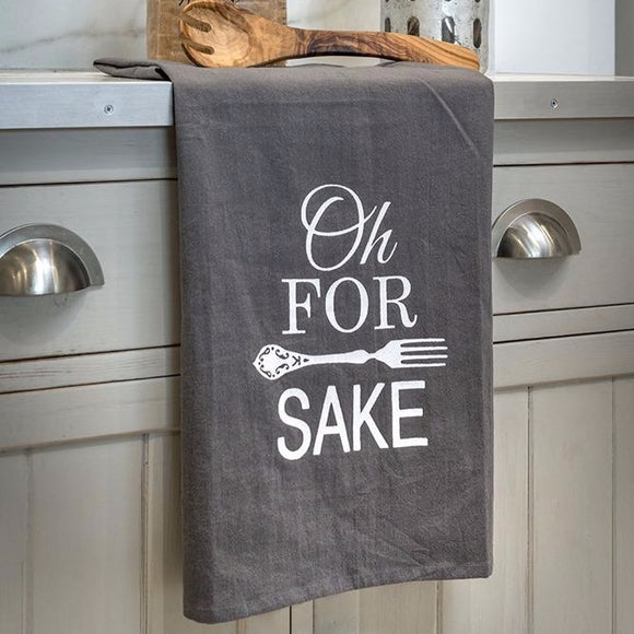 Retreat Oh Fork Sake Tea Towel 16SS36