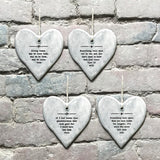 East of India - Rustic Hanging Heart 'Known Grandchildren''