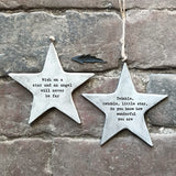 East of India - Rustic Hanging Star 'Twinkle wonderful you are'