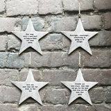 East of India - Rustic Hanging Star 'Love you more'