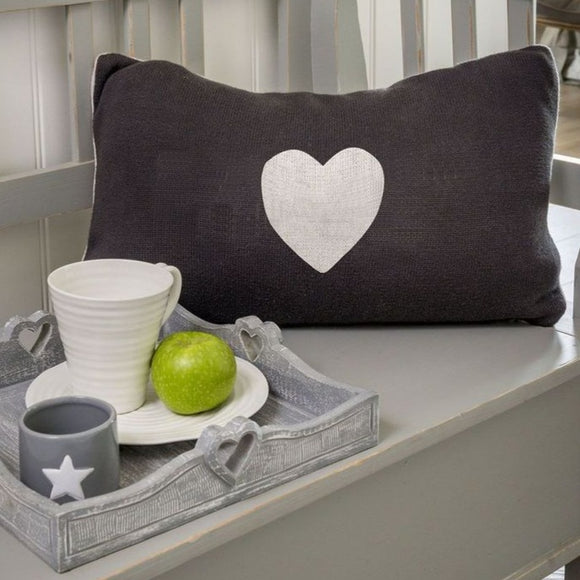 Retreat - Reversible Heart Oblong Knit Cushion | 20SS39