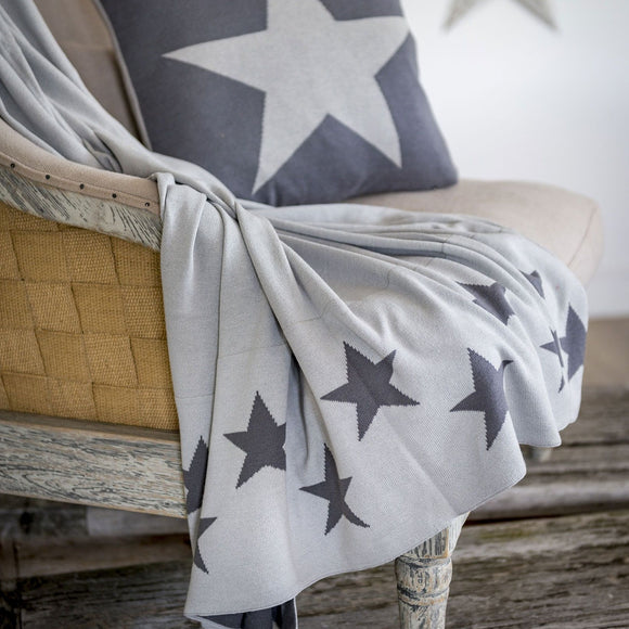 Retreat - Reversible Grey & Ivory Star Throw | 20SS29