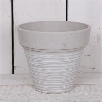 Satchville - Grey Round Tapered Pot Planter