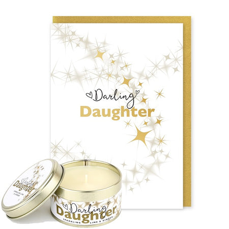 Pintail Occasion Candle & Greeting Card - Darling Daughter