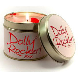 lily flame scented dolly rocker candle