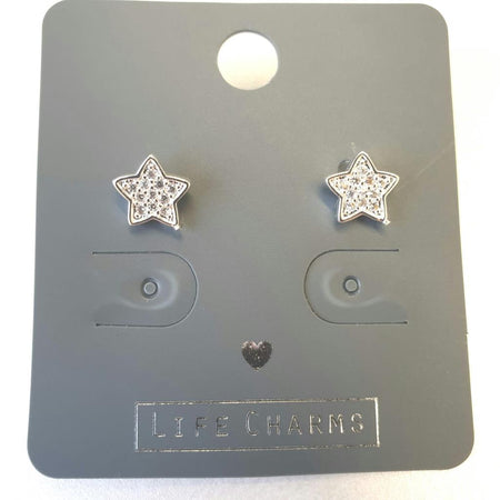 Life Charm Earrings - CZ Stardust Studs