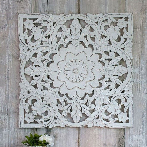 Retreat - White Carved Panel 60cm | 11SS10