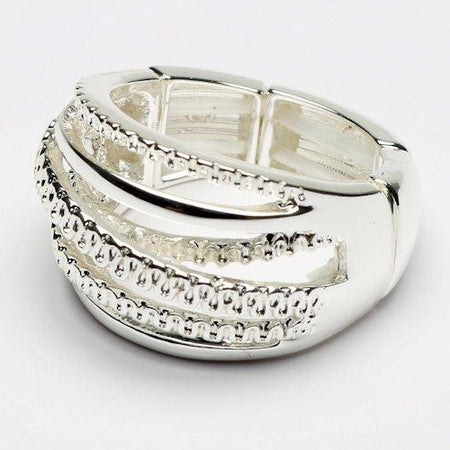Eliza Gracious - Crossover Band Ring - ER0133