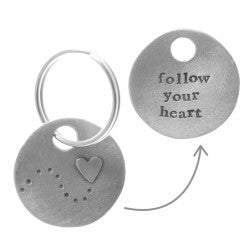 Pewter Follow your Heart Keyring