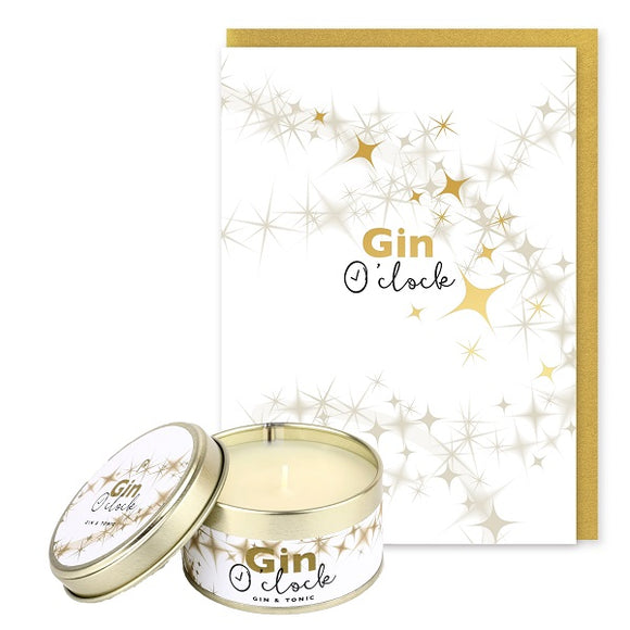 Pintail Occasion Candle & Greeting Card - Gin O'Clock