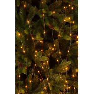 Christmas Tree Lights - Copper Wire with Amber LED Lights (150cm)