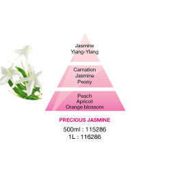 Lampe Berger Precious Jasmine fragrance pyramid image of the ingredients