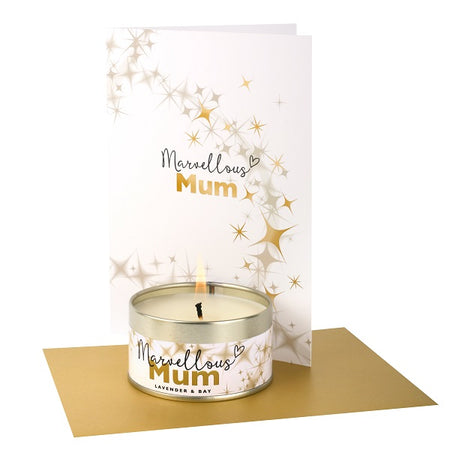 Pintail Occasion Candle & Greeting Card - Marvellous Mum